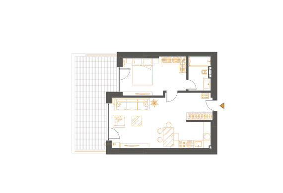 Apartament 2 Camere - 2F1P