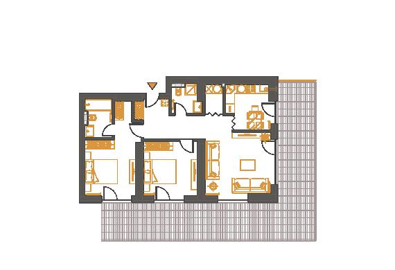 Apartament 3 Camere - 3F2P
