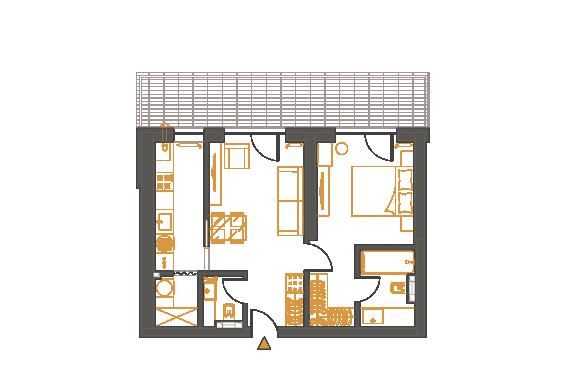 Apartament 2 Camere - 2I1