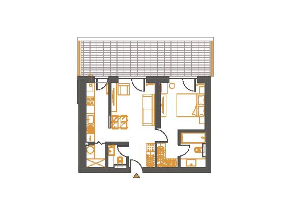 Apartament 2 Camere - 2I1P