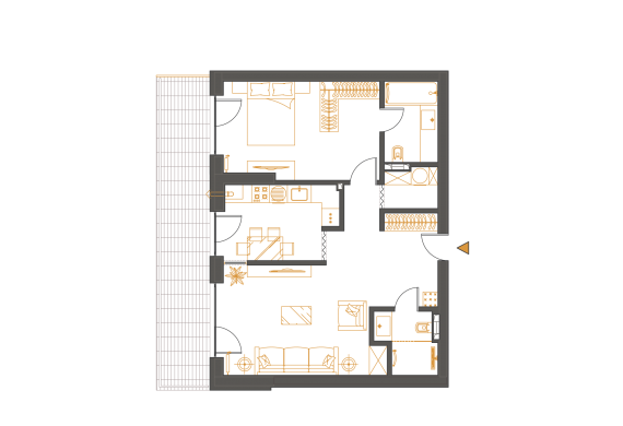 Apartament 2 Camere - 2K2
