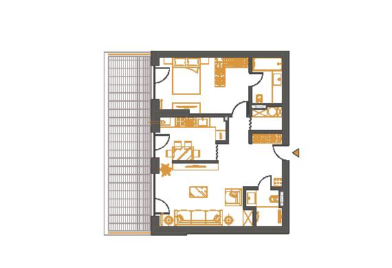 Apartament 2 Camere - 2K2P
