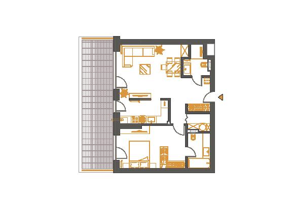 Apartament 2 Camere - 2K1P