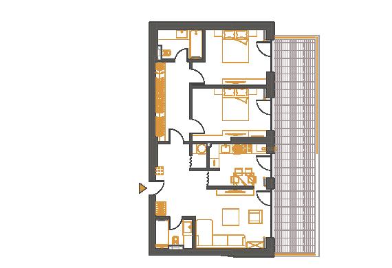 Apartament 3 Camere - 3P3