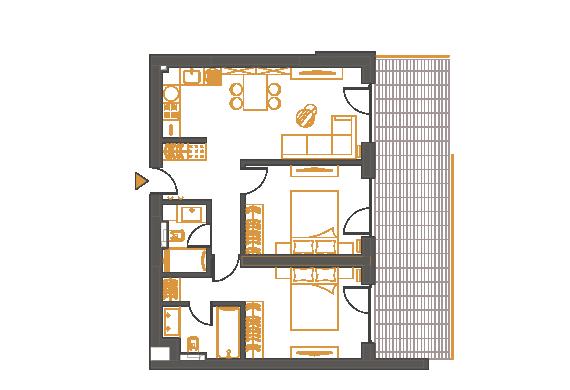 Apartament 3 Camere - 3P1