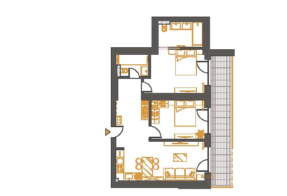 Apartament 3 Camere - 3P2