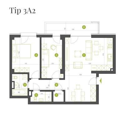 Apartament 3 Camere - 3A2