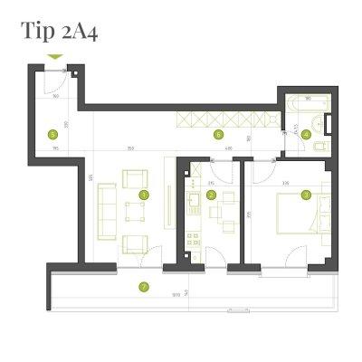 Apartament 2 Camere - 2A4