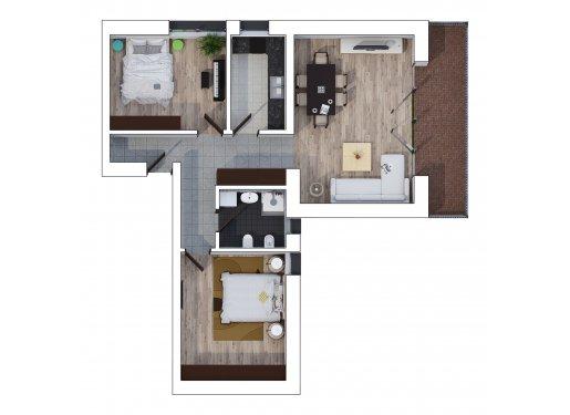 Apartament 3 Camere - Sunrise Loft - Etaj 2