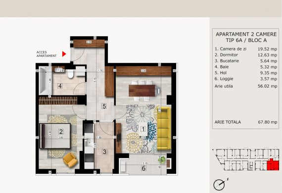 Apartament 2 Camere - 2C TIP 6A