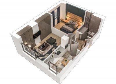 Apartament 2 Camere - 2B Scara 2