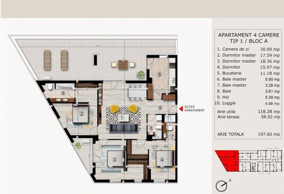 Apartament 4 Camere - 4C TIP 1