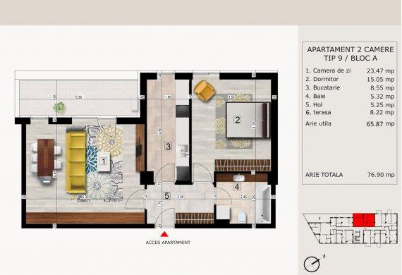 Apartament 2 Camere - 2C TIP 9
