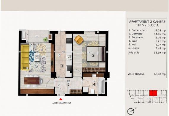 Apartament 2 Camere - 2C TIP 5