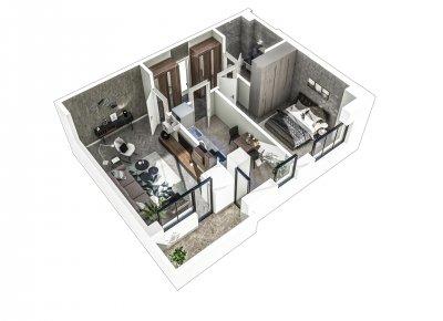 Apartament 2 Camere - 2C Scara 2