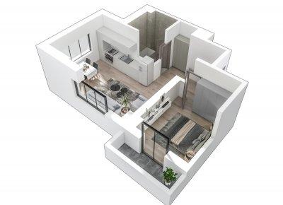 Apartament 2 Camere - S3 Scara 1